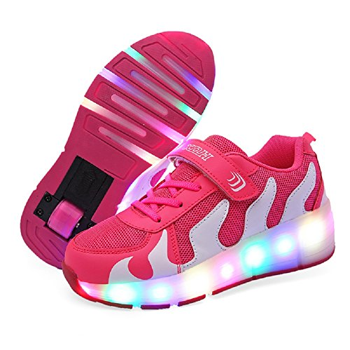 Roller Light - Nsasy Roller Shoes Roller Skates Shoes Girls Boys Wheel Shoes Kids Wheel Sneakers Roller Sneakers Shoes with Wheels