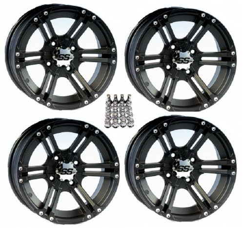 ITP SS212 ATV Wheels/Rims Black 14″ Can-Am Commander Maverick Renegade Outlander (4)