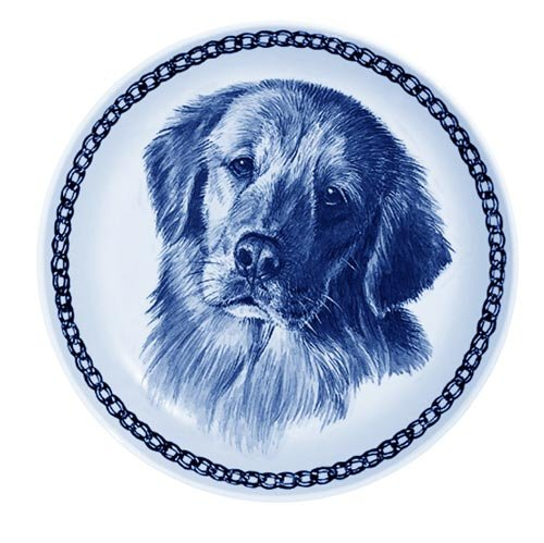 Lekven golden Retriever Design Dog Plate 19.5 cm 7.61 inches Made in Denmark NEW with certificate of origin PLATE  75642