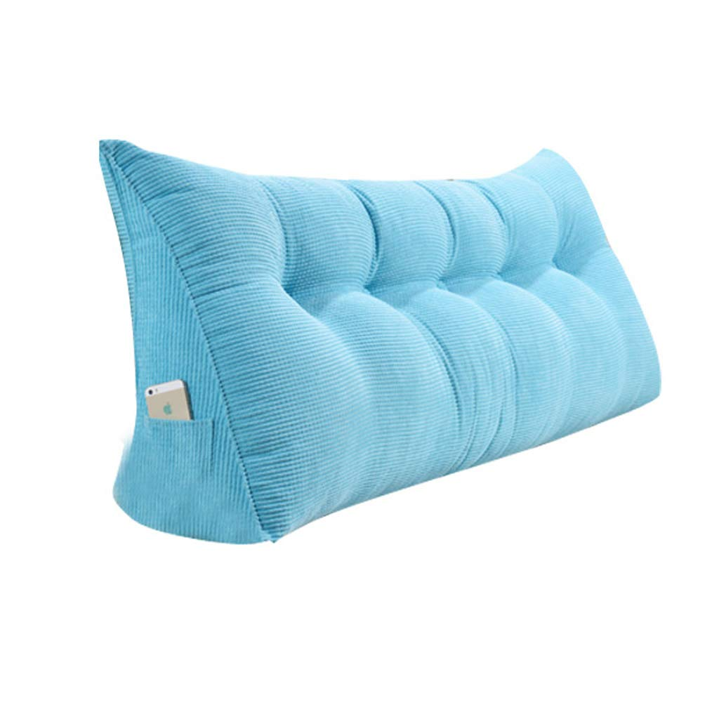 GAOYANG Bedside Triangular Wedge Cushion, Headboard Wedge Pad, Positioning Support Reading Backrest Cushions, A Sofa Bed with A Double Bed with A Pillow. Removable and Washable,5 Colors,(200cm)