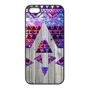 taoyix diy Aztec Wood ZLB516416 DIY Case for Iphone 5,5S, Iphone 5,5S Case