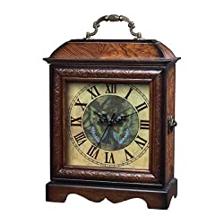 Sterling Home Wood Green Butterfly Box Clock
