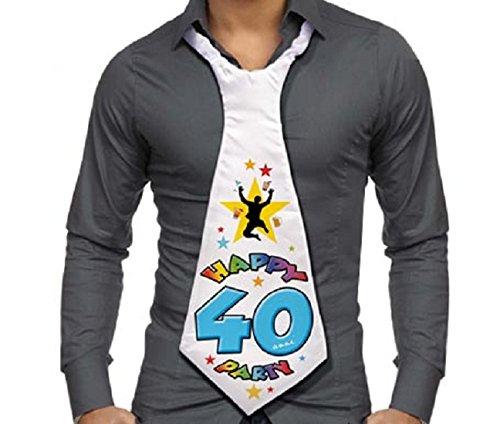CRAVATTONE 40 ANNI Cravatta Gadget idea regalo festa 40° Compleanno uomo DOR import S.r.l.