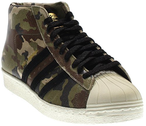 Adidas Mens Complex Pro Model 80's Black Legacy/White Camo Leather Size 8 White Leather Camo