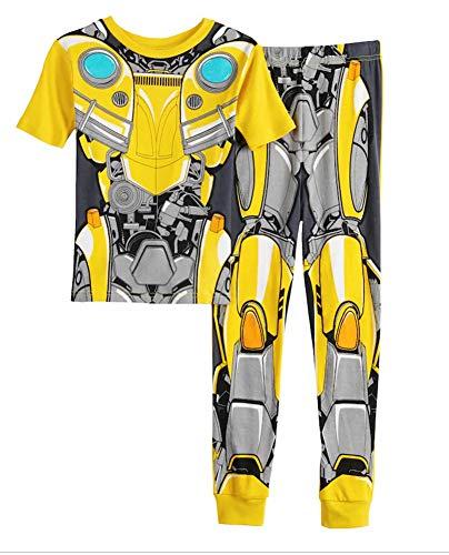 Transformers Little/Big Boys' Bumble Bee Two-Piece Costume Pajama Set (8) Yellow ()