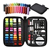 TUXWANG Premium Portable Sewing Kit - With 90-Piece Sewing Accessories and Carry Case - Includes Assorted Needles and 24 Reels of Thread