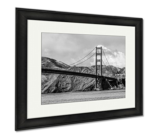 Ashley Framed Prints Amazing View Over Golden Gate Bridge In San Francisco, Wall Art Home Decoration, Color, 26x30 (frame size), Black Frame, - San Shops Francisco Square Union
