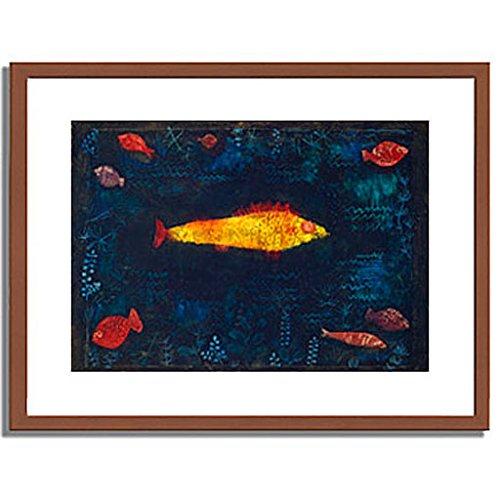 パウルクレー 「金色の魚 The Golden Fish. 1925 」 インテリア アート 絵画 壁掛け アートポスターフレーム:木製(茶) サイズ:M(306mm X 397mm) B00MSW9T5U 2.M (306mm X 397mm)|1.フレーム:木製(茶) 1.フレーム:木製(茶) 2.M (306mm X 397mm)