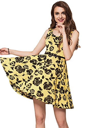 ohyeahlady Women Summer Skater Dress Casual Fit and Flare