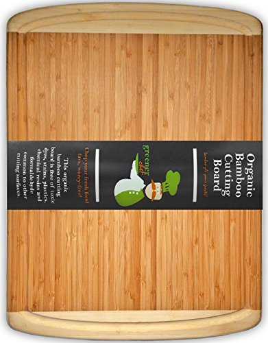 Show #1 Best ORGANIC Bamboo Wood Cutting & Kitchen Chopping Board with Groove | EXTREMELY SPACIOUS, EXTRA LARGE, THICK & ECO FRIENDLY | Perfect Wedding or Housewarming Gift price