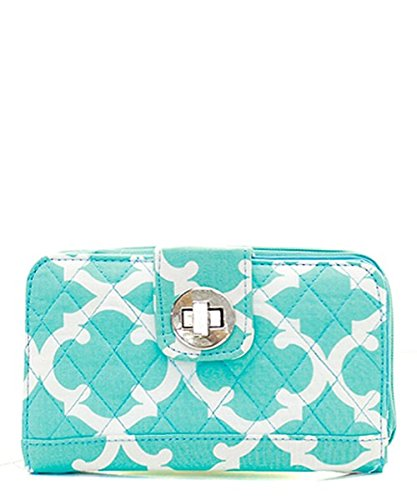 quilted clasp wallet - 1
