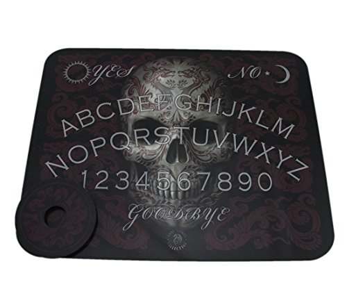 Plastic Occult Fortune Telling Toys Anne Stokes Tribal Tattoo Skull Spirit Board With Planchette 15.25 X 0.13 X 12.25 Inches Black by Fantasy Gifts