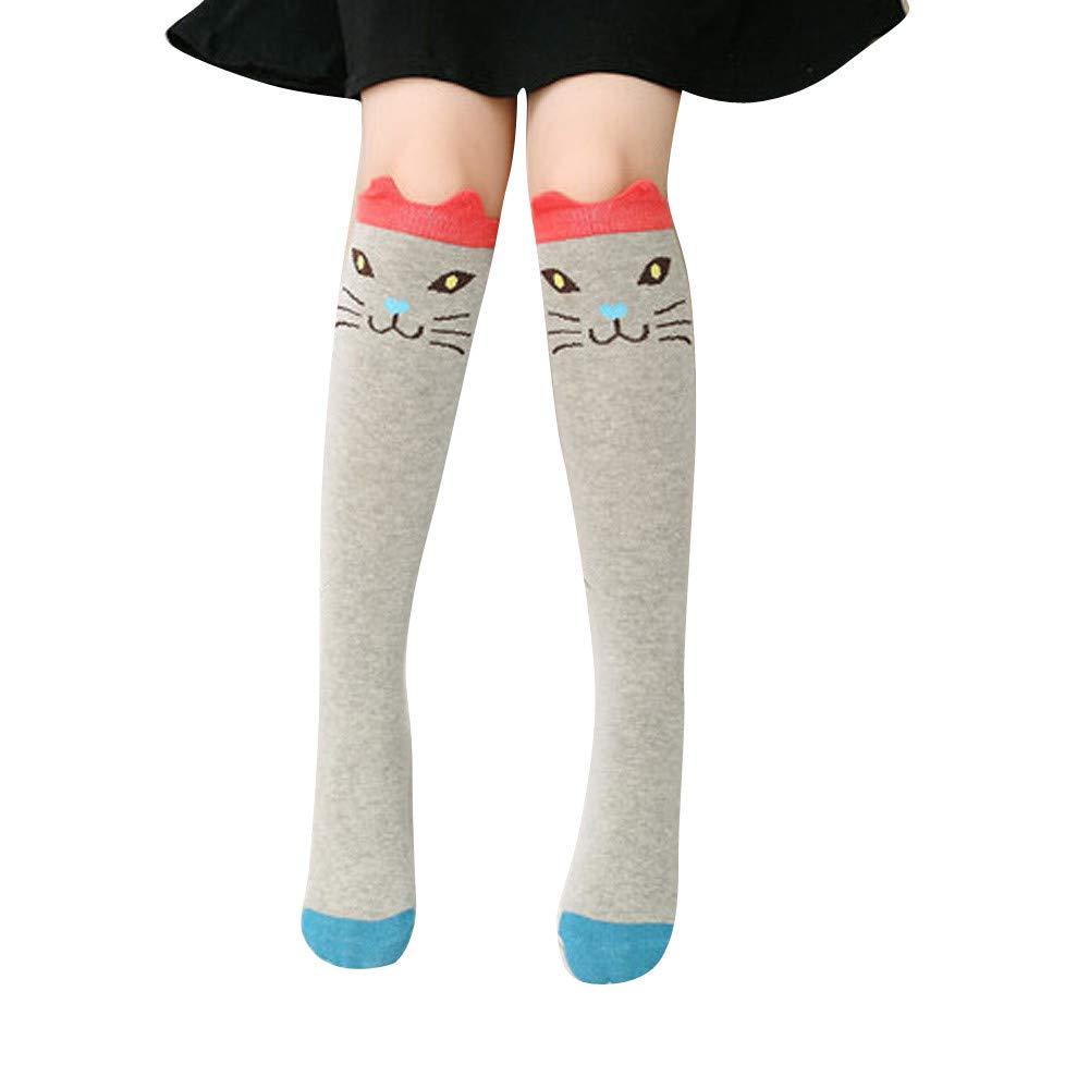 Pausseo Baby Girls Toddler Cute Animal Cartoon Bear Winter Thicker Warm Anti-Slip Long Printing Kids Lined Leggings Tight Pants Children's Plus Velvet Panty-Hose Stocking Casual Sports Socks