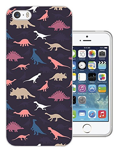 715 - Cool Fun Multi Dinosaurs Design iphone 4 4S Fashion Trend CASE Gel Rubber Silicone All Edges Protection Case Cover