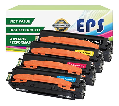 EPS 4PK Replacement Toner Set for Samsung 504 CLP-415NW CLX-4195FW C1810W (1 x Black, 1 x Cyan, 1 x Magenta, 1 x Yellow) ()