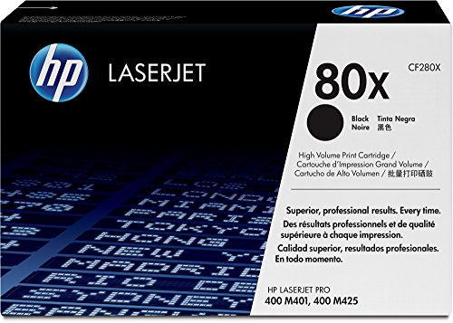 HP 80X (CF280X) Black High Yield Original Toner Cartridge by HP