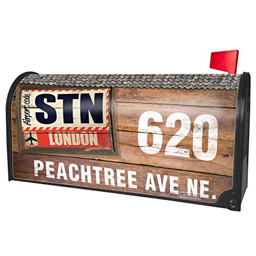 NEONBLOND Custom Mailbox Cover Airportcode STN Stansted -