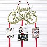 Merry Christmas Card Holder - Merry Christmas (Gold Glitter)