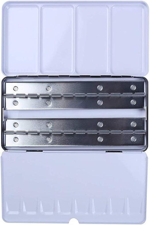 Caja de pintura de acuarela vacía con 48 compartimentos, caja de ...