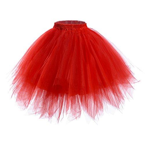 Womens Short Ballet Tutu Skirt - Elastic Vintage