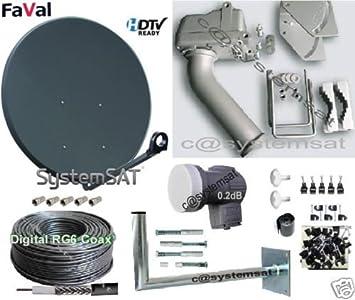 100 cm motorizada con antena parabólica DiSEqC 1,2 MOTOR + 0,1 db LNB - (filtro UV) Systemsat