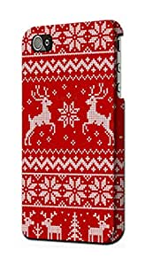 E2835 Christmas Reindeer Knitted Pattern Funda Carcasa Case para IPHONE 5 5S