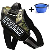 Fairwin Service Dog Vest Harness K9 No Pull Adjustable with Reflective 'SERVICE DOG' Patches É