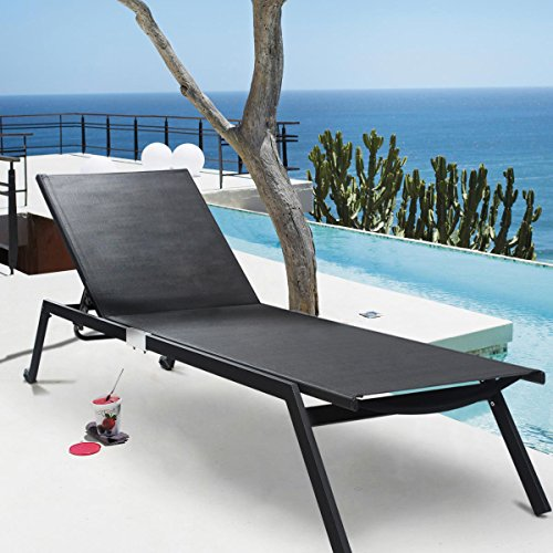 Tangkula Adjustable Chaise Outdoor Armless product image