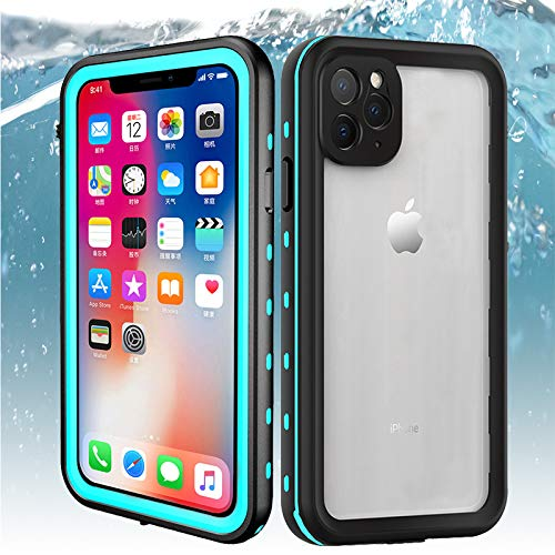 iPhone 11 Pro Waterproof Case, ZERMU Shockproof Snowproof Cover IP68 Underwater Full Body Protection Crystal Transparent with Built-in Screen Protector Waterproof Case for iPhone 11 Pro 5.8 Inch 2019