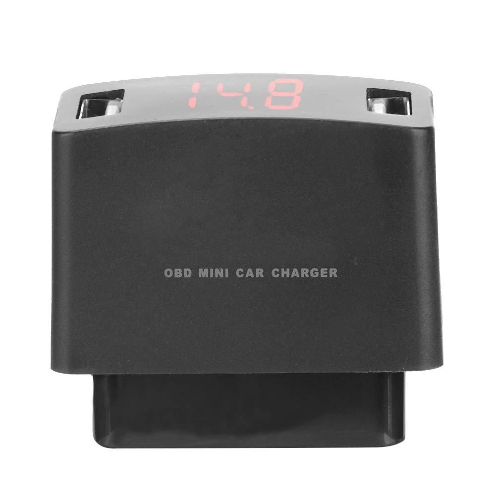 Double Prise de Chargeur USB Durable ABS OBD MINI avec Affichage de la Tension EBTOOLS Chargeur de Voiture OBD