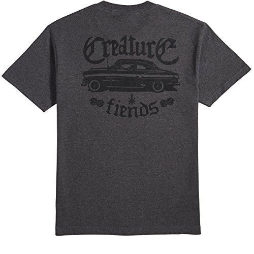 Creature Skateboards Car Club T-Shirt - Charcoal Heather - (Creature Car Club)