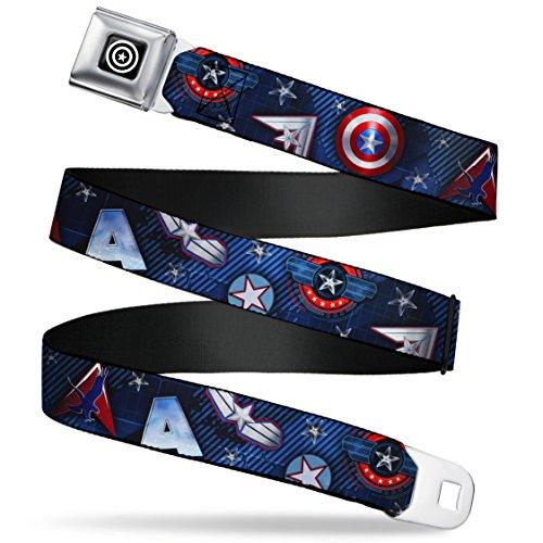 Hawkeye Belt (Captain America Cartoon Symbols and Stars Seatbelt Belt)