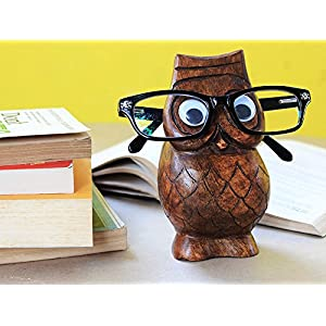 Black Friday Eyeglass Holder Wooden Spectacle Stand Owl Shaped Handmade Display Glasses Accessories