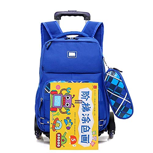 Rolling Extraíble Girls Aleación De Para Azul Aluminio Eeayyygch Senderismo Ruedas Escolar Escuela Backpack color Tamaño Safety Mochila Mochilas boy Retráctil 6 Rojo Sqngvpgd