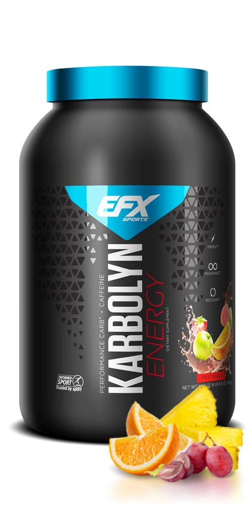 EFX Sports Karbolyn Energy, Preworkout Carbohydrate, Fruit Punch 4.4lbs