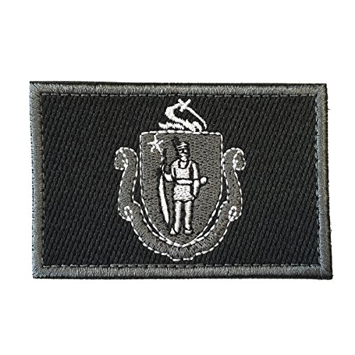 SpaceCar USA The Bay State The Pilgrim State The Puritan State Massachusetts MA State Flag Tactical Morale Patch 3