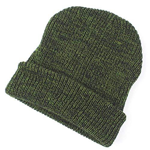 Big Teresamoon Women Men Hat Warm Ear Protection Crochet Solid Color Winter Knit Caps -