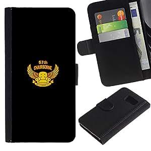 Protector de cuero de la PU de la cubierta del estilo de la carpeta del tirón BY RAYDREAMMM - Sony Xperia Z3 Compact - Chairborne Squad