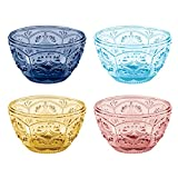 Trestle Glass Collection, Assorted Small Bowls (Set of 4), Multicolor