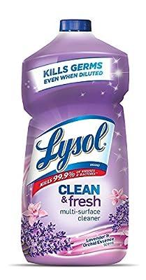 Lysol Clean & Fresh Multi-Surface Cleaner, Tangerine & Mango, 360oz (9X40oz)