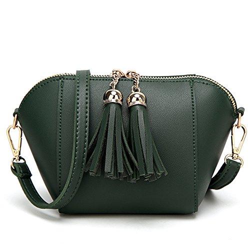GWQGZ Moda Retro Señoras Satchel Bag Negro Green