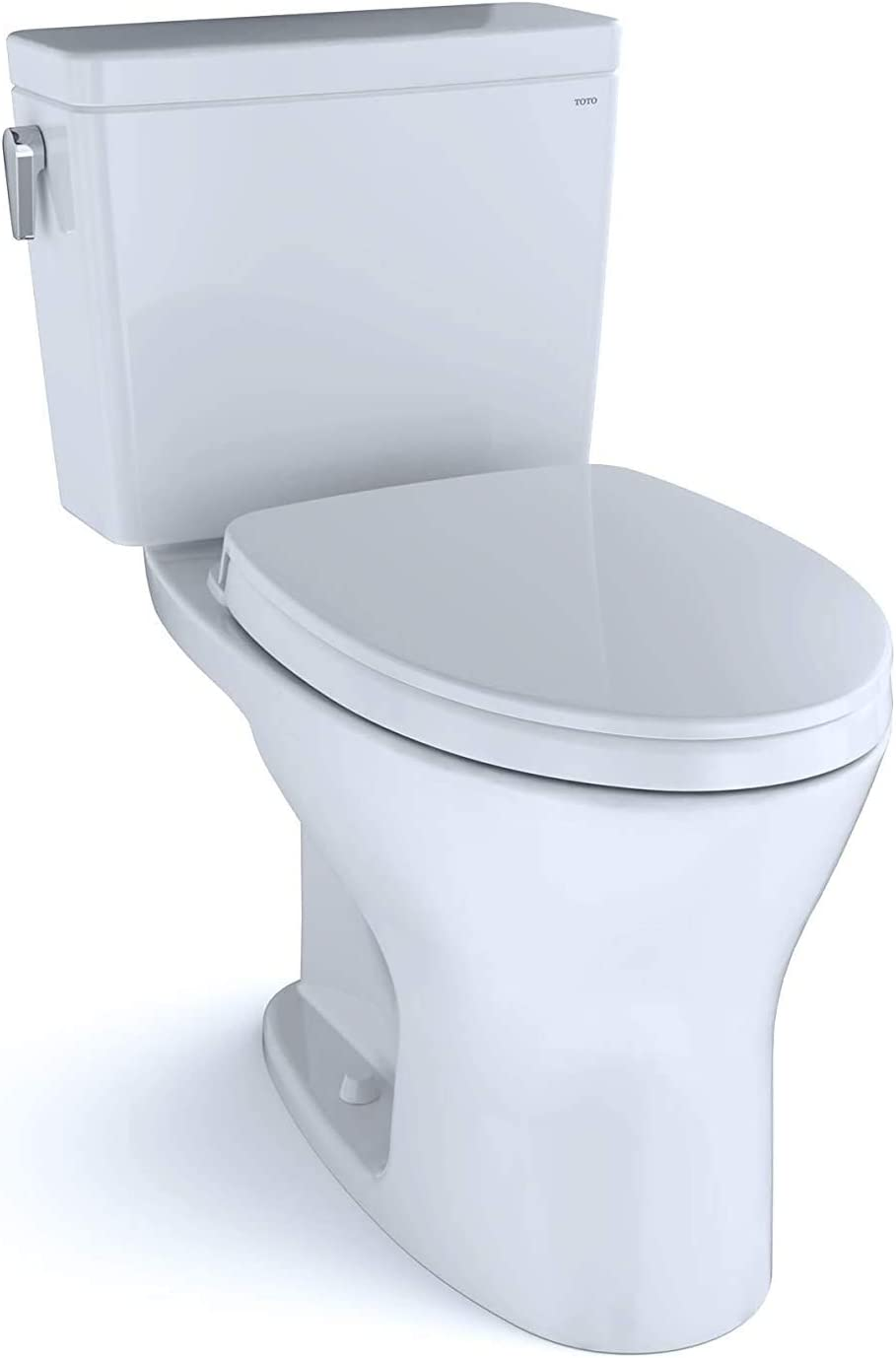Toto Ms746124cemfg 01 Drake Two Piece Elongated Dual Flush 1 28 And 0 8 Gpf Universal Height Dynamax Tornado Flush Toilet With Cefiontect And Softclose Seat Washlet Ready Cotton White Amazon Co Uk Diy Tools