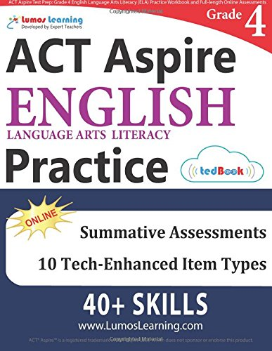 ACT Aspire Test Prep: Grade 4 English Language Arts Literacy (ELA ...