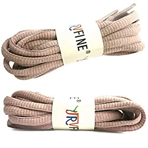 YJRVFINE 2 Pair Oval Shoelaces for Kids Athletic Shoe Laces Strings Light Dirty Pink - Length:27.56 (Color: 40 Light Dirty Pink, Tamaño: 27.56Inch (70CM))