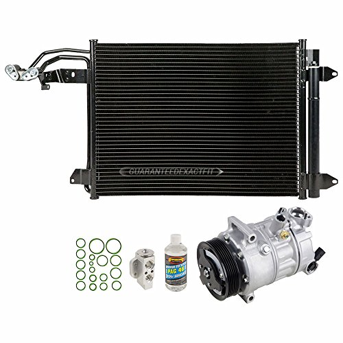 (A/C Repair Kit OEM AC Compressor & Clutch For VW Jetta Golf GTI Audi A3 TT - BuyAutoParts 60-80596R5 New)