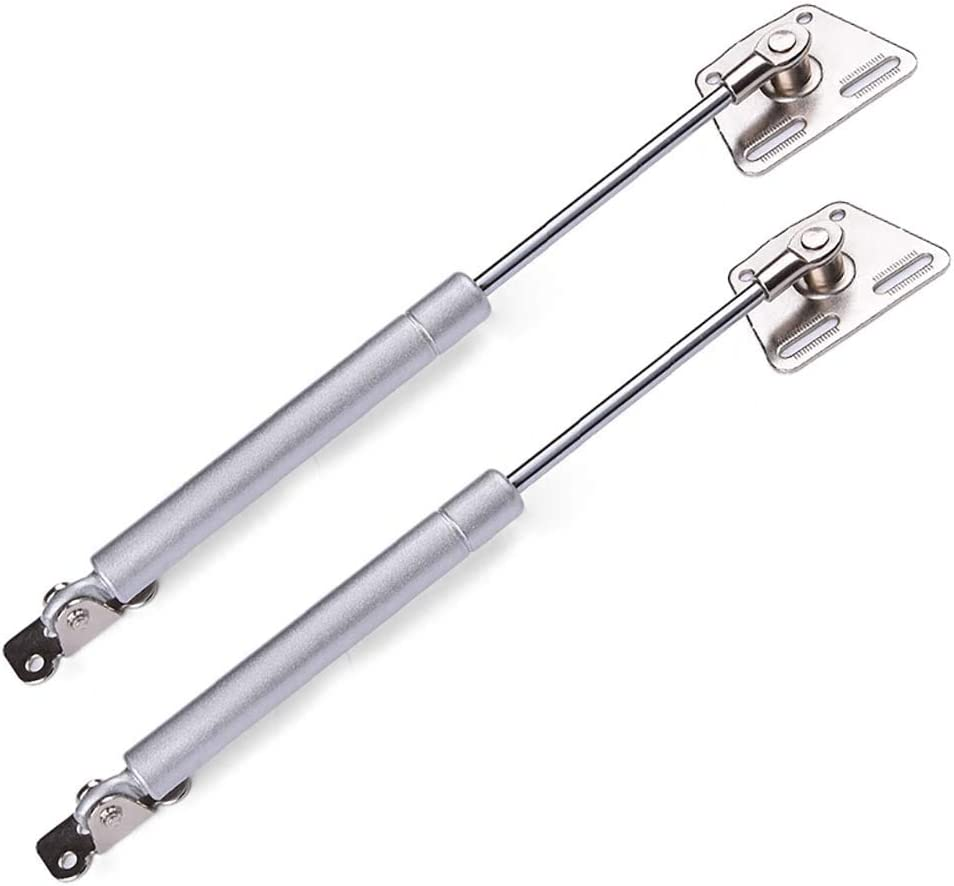 Kitchen Cabinet Hinges Silver Grey Lid Support 2 Pack Toy Box Hinges Gas Strut Lift Support 150N // 33lb Gas Spring Soft Close Hinges