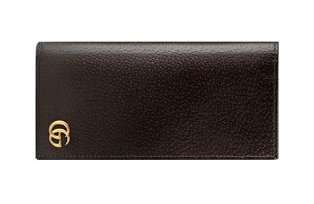 GUCCI グッチ 二つ折り 財布 長財布 メンズ GGマーモント レザー ロングウォレット B01IPICAQ0  ブラウン