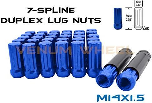 Venum ホイールアクセサリー (20) ブルー 14x1.5 スプラインラグナット タンドラ 2007+ 5x150 + ロックソケットキー2個