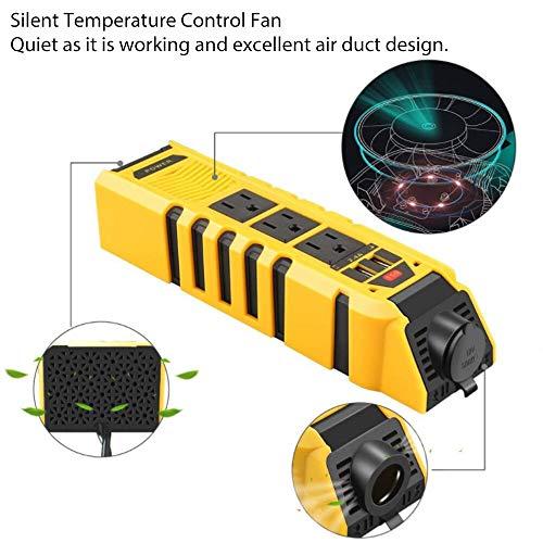 - Jonathan-Shop - 150W Car Power Inverter Converter DC 12V to 110V AC Car Inverter Car Plug Converter with 2.4A Dual USB Car Adapter