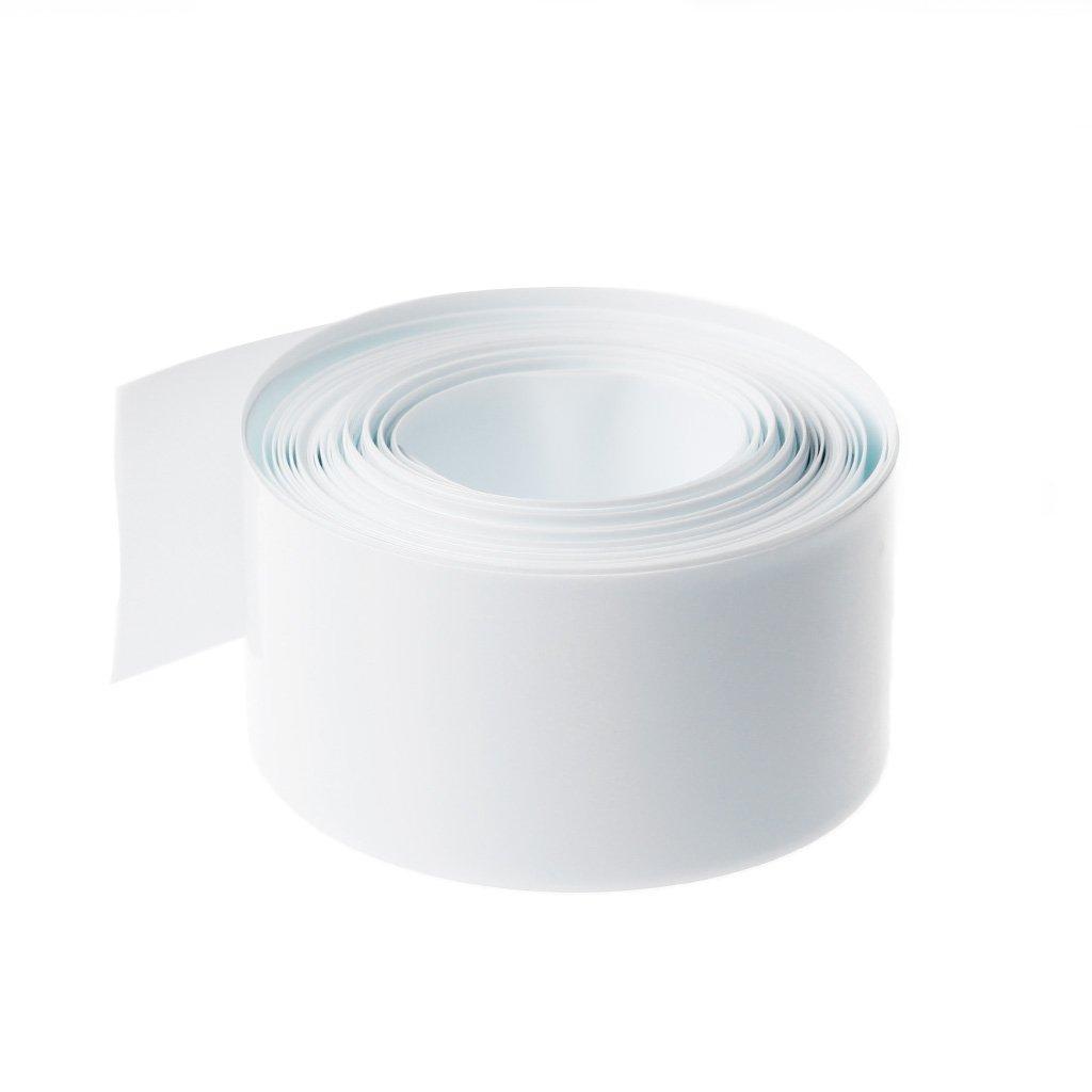 Numkuda 5/m PVC tubi termorestringenti tubo Wrap kit per 18650/18500/batteria piatto rotondo 18.5/mm bianco